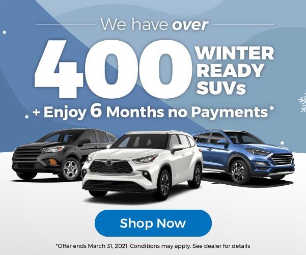 Winter ready SUVs Used Car Dealership Barrie